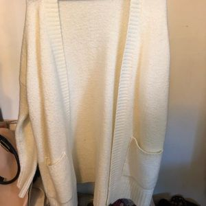 White/ Wool Cardigan